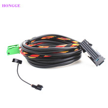 цена на BT Bluetooth Microphone+Plug Wiring Harness Cables 9W2 9W7 For VW RCD510 RNS510 VW Passat B6 B7 Golf Jetta Touran Eos Scirocco