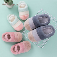 Children Slipper Girl Warm Thickening Soft Home Sippers Indoor Floor Shoes Non slip Cotton Winter Warm Boys Girls House Slippers