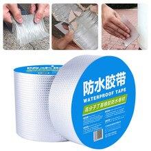 Ruban adhésif imperméable à haute température, feuille d'aluminium, épais, butyle, résistant à l'eau, pour réparation de conduits de toit