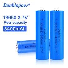 100% Оригинальный Doublepow 18650 3,7 в 3400 мАч 18650 перезаряжаемый литиевый аккумулятор для фонариков