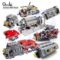 1 Set MOC - TECHNIC 8 SPEED SEQUENTIAL GEARBOX Educational Building Blocks Bricks Parts DIY Toys Compatible With 4911 Technic