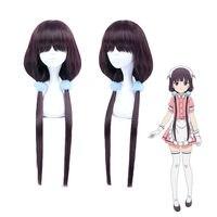 Blend S Maika Sakuranomiya Long Straight Purple Black Ponytails Cosplay Wig & Headwear Costumes Accessories