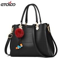 цена на SAC A Main Femme De Marque Luxe Cuir New Women Shoulder Bags Ladies PU Leather tote Handbag Casual Messenger Bags Hairball