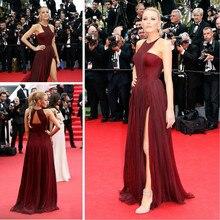 Event-Gown Evening-Dress Celebrity Elegant Carpet Formal Red Long Burgund Inspired