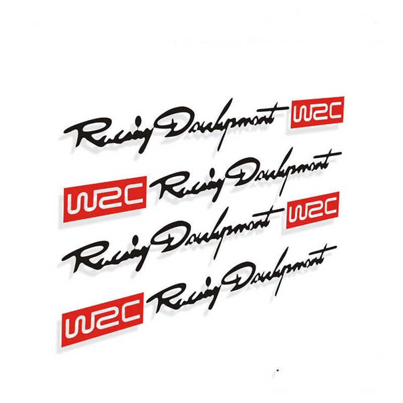 4 pegatinas reflectantes de la manija de la puerta del coche de WRC para la pegatina del coche para subaru toyota skoda kia lada opel bmw estilo de coche
