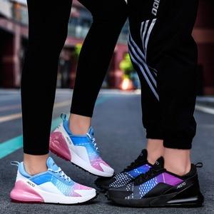 Image 2 - Jzzddown Unisex renkli hafif Sneakers ayakkabı kadın erkek çift severler kadınlar nefes Zapatos De Mujer spor ayakkabılar