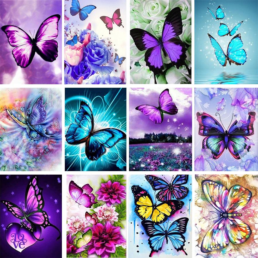 Butterfly Pattern 3D Diy Diamond Painting Cross Ctitch Kits Diamond art crystal Mosaic Embroidery Painting New Year Gift