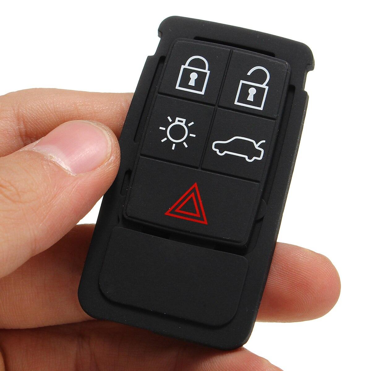 5 кнопок дистанционного ключа резиновая накладка замена FOB подходит для Volvo S60 S80 XC70 XC90 черный резиновый коврик дистанционного ключа FOB Силико...