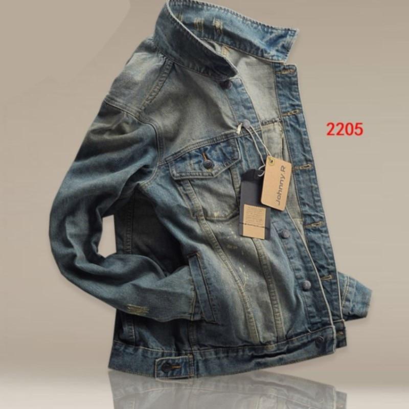 New Style Fashion Man Slim Fit MEN'S Jacket Jeans Coat Men's Winter Korean-style Denim Jacket Men's