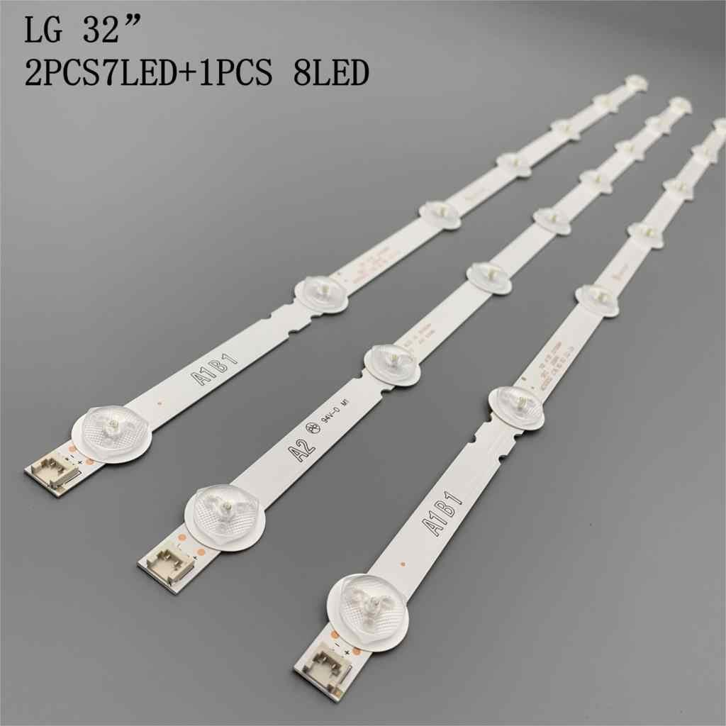 """3PCS A1 * 3pcs LED תאורה אחורית מערך LG 32 """"32LN540U-ZA 32LN5700 LC320DUE LC320DXE SF 32LA6200 32LN5400 32LN5403 32LN5404 32LN5405"""
