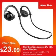 New Bee Headset Bluetooth Wireless Sport Earphone Headphones Snail Design HiFi Earbuds with Mic Pedometer App For Phone