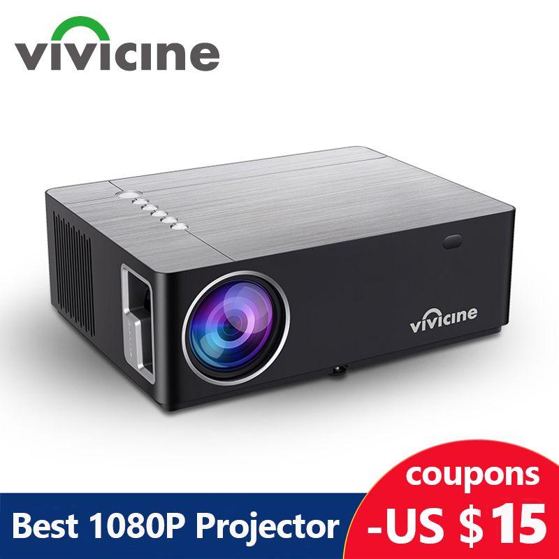 Vivicine M20 Newest 1080p ProjectorOption Android 10 0 1920x1080 Full HD LED Home Theater Video Projector Beamer Support AC3