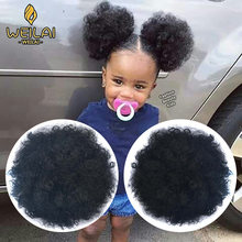 WEILAI – Chignon synthétique pour femmes noires, 2 pièces, accessoires de cheveux Afro bouffants, tête frite douce, corde de cheveux élastique, petits pains synthétiques pour femmes noires