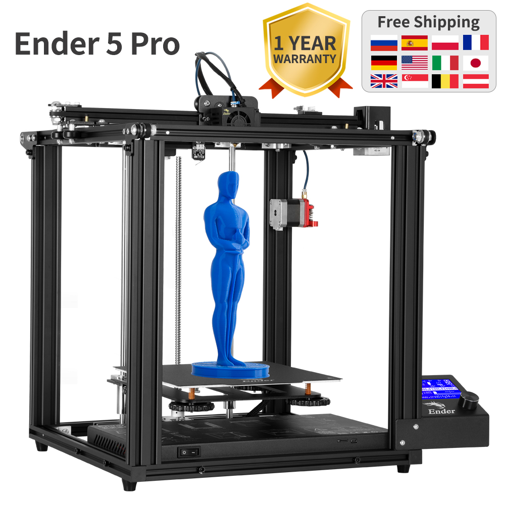 Ender 5 Pro 3D Printer Silent Board Pre installed Cmagnetic plate Ender 5Pro power off resume enclosed structure Creality3D|3D Printers| |  - title=