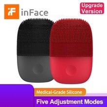 Cepillo de limpieza Facial Inface versión actualizada eléctrico Sonic brocha Facial de silicona limpieza profunda limpiador Facial