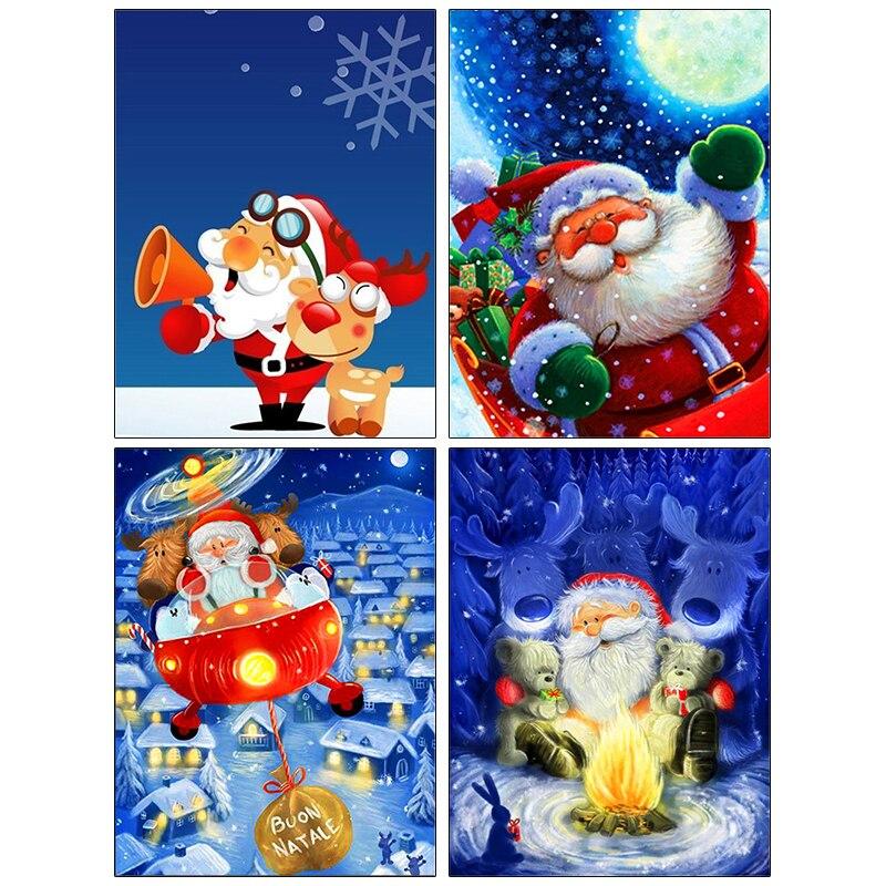 Pdmdog Алмазная картина Санта Клаус Вышивка крестом Набор вышивка