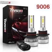2pc super brilhante led faróis luz branca 9006/hb4 110w 6000k carro condução lâmpadas farol luzes do carro acessórios do carro em estoque