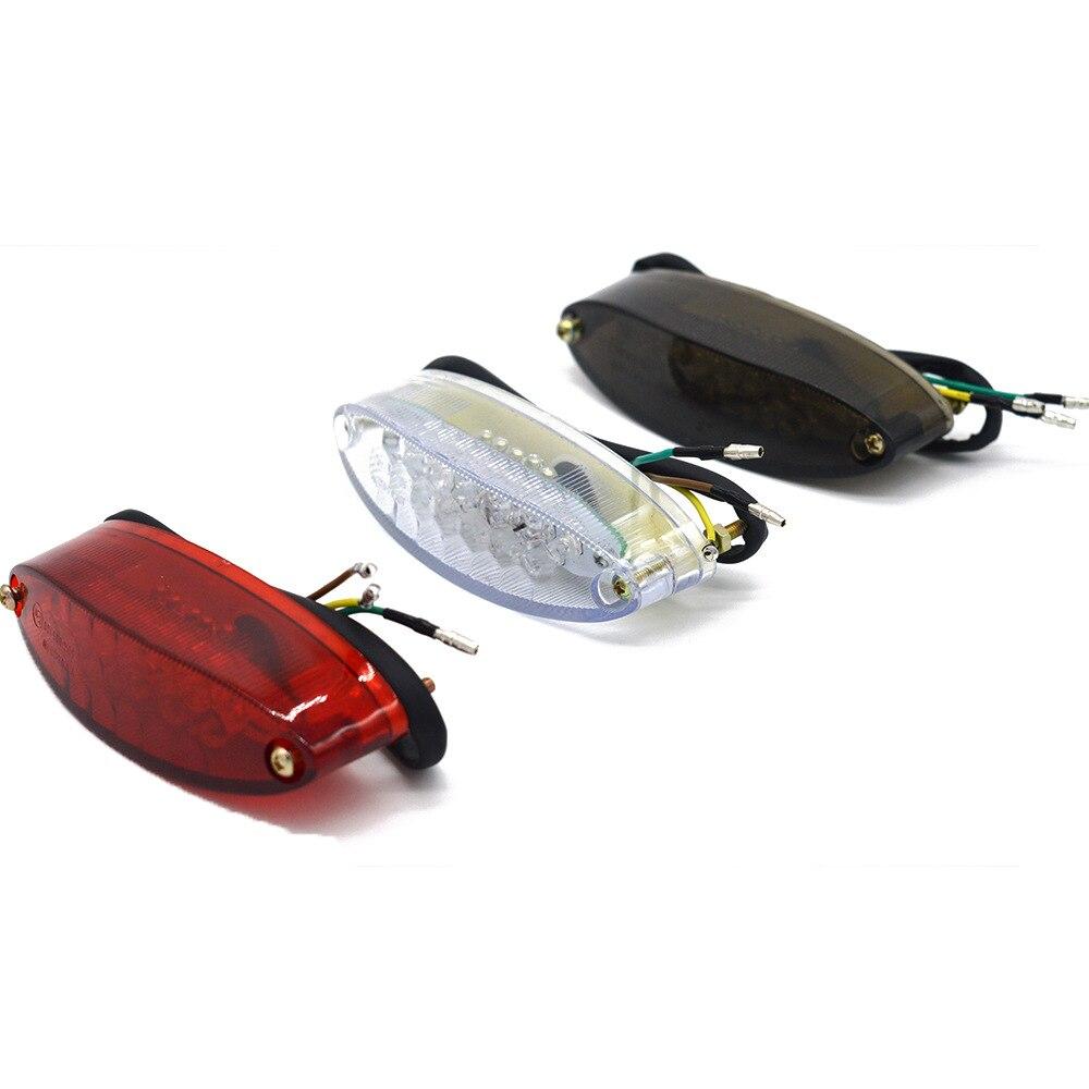 12V 28 LEDs Motorcycle Led License Plate Lights Bike Rear Tail Brake Signal Light 30CM Wired Number Plate Light Decorative Lamp