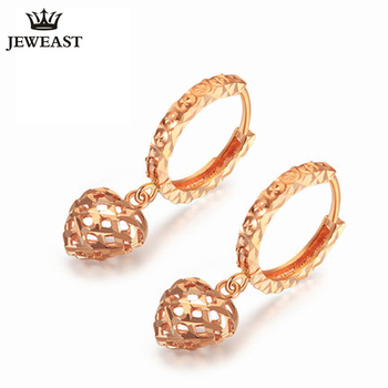 18K Pure Gold Earring Real AU 750 Solid Gold Earrings Good Beautiful Heart Upscale Trendy Classic Fine Jewelry Hot Sell New 2020 1