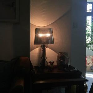 Image 3 - โมเดิร์นGhost SHADOWอะคริลิคใสตารางโคมไฟแสงห้องนอนห้องนอนห้องนอนอะคริลิคโคมไฟตั้งโต๊ะSimple LIGHT
