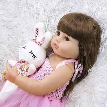 Free shipping from Brazil 55cm Full Silicone Body Reborn Baby Doll Toy For Girl Vinyl