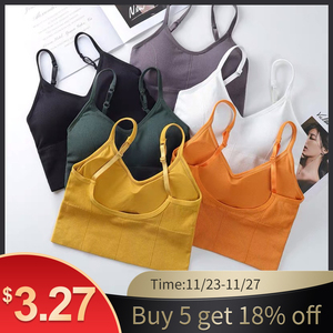 Bra Top Women Bras Sexy Lingerie Crop Tops Backless Bralette Active Bustier With Padded Seamless Tops Girls Underwear Brassiere