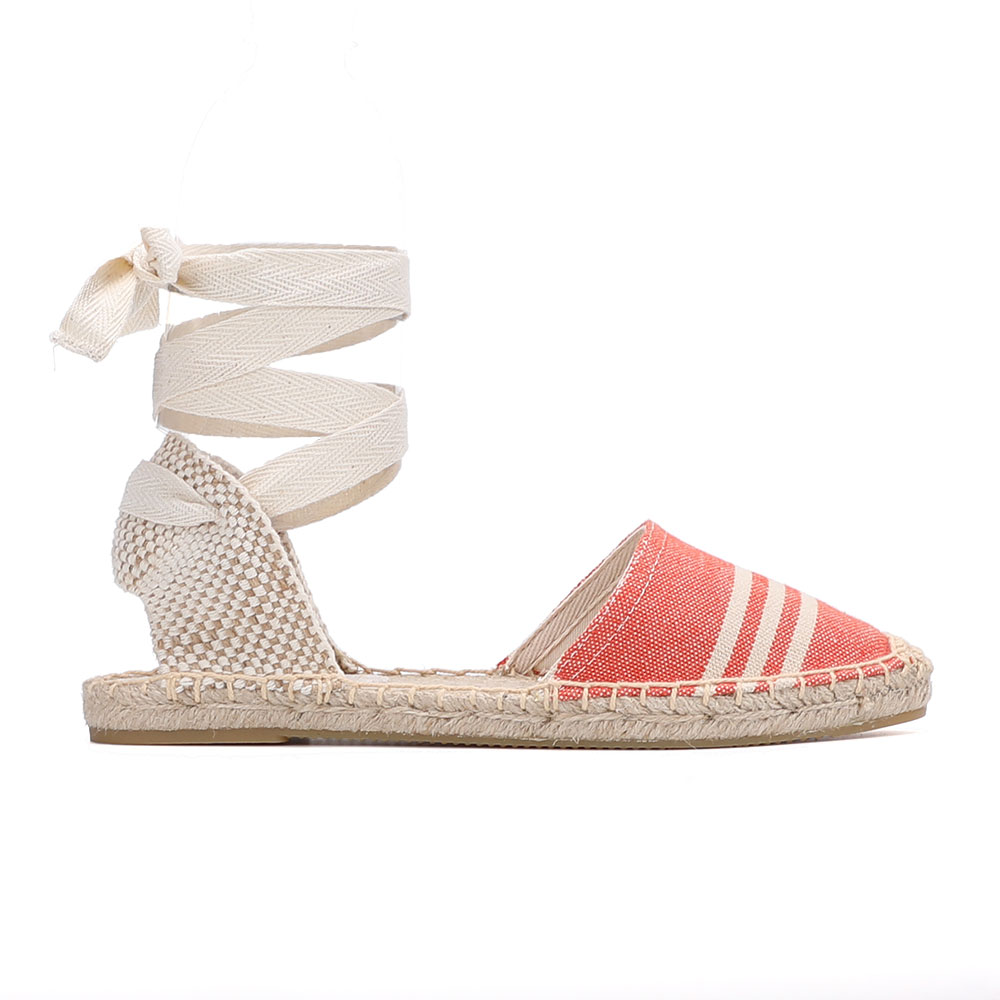 2020 Direct Selling Real Hemp T-strap Flat With Open Sapato Feminino Sandals Sapatos Mulher Womens Espadrilles Flat Shoes