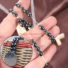 New 1PCS  Healthy Weight Loss Magnetic Therapy Anklet Shellhard Beads Ankle Bracelet For Women Men Sliming Black Foot Chain