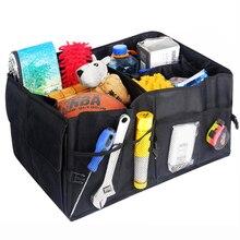 Boîte de rangement de voiture étanche pliant conteneur Case multifonction voiture style coffre sac Auto intérieur stockage organisateur conteneur