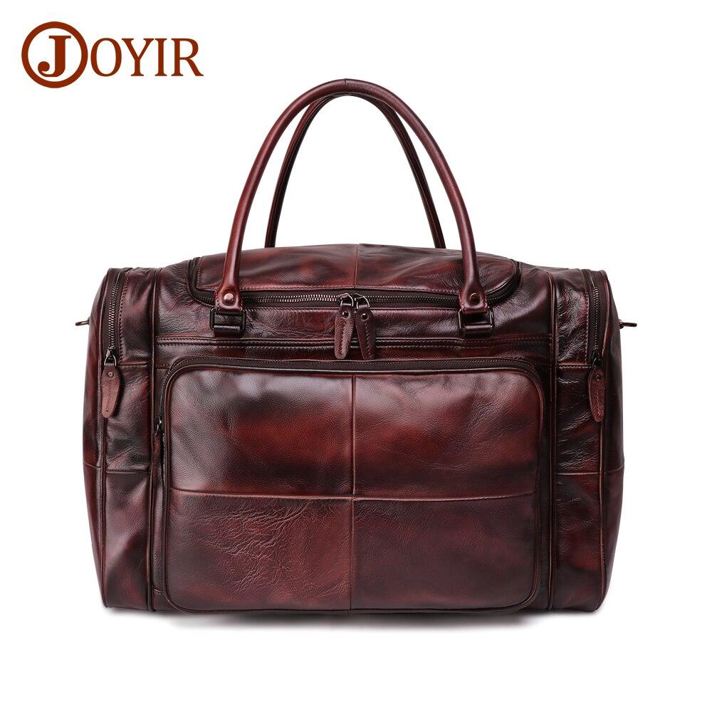 JOYIR sac polochon homme en cuir véritable sac de voyage bagage sac à main homme sac de voyage grande capacité sac à bandoulière en cuir fourre tout homme