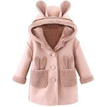 toddlGirls Jackets Kids Coat rabbit Children Winter Outerwear & Coats Casual