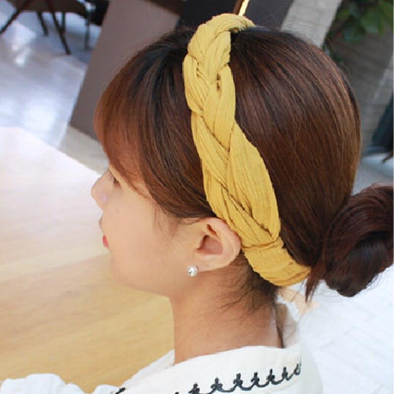 Flores de Cânhamo Lote Faça Você Mesmo Simples Multi Tecidos Cabeça Bandas Pigtail Ampla Headbands Ferramentas Estilo Cabelo Acessório Ha1560 30 Pçs –