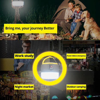 280W Newest Camping Light Solar Outdoor USB Charging 3 Mode tent Lamp Portable Lantern Night Emergency bulb Flashlight For BBQ 5