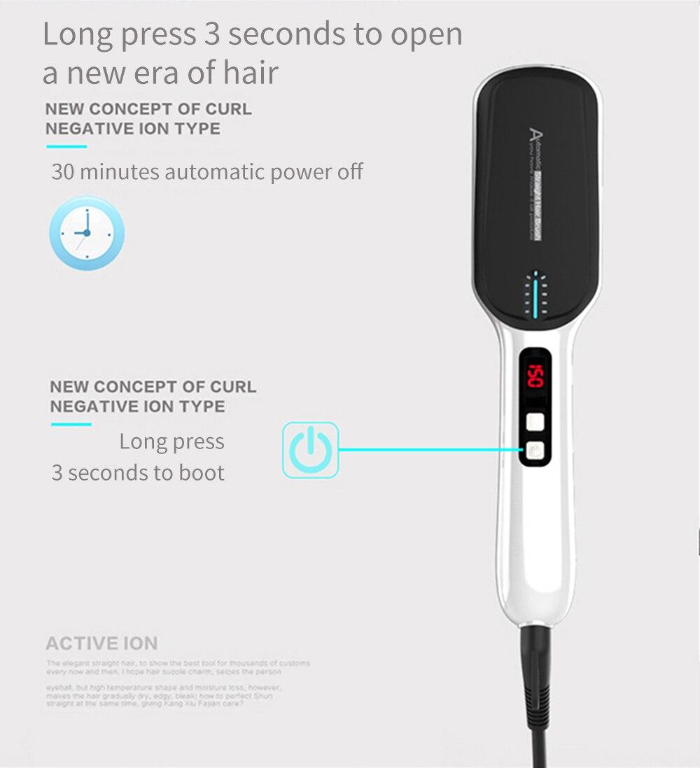 Hair straightener hair iron Professional Fast Universal Voltage Ceramic Electric Hair Straightening brush Styling Tool ET-16