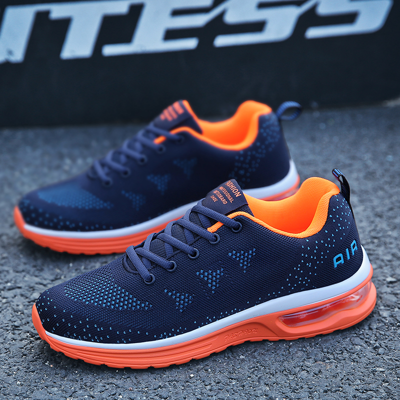 Male Sneakers Basket Training-Shoes Air-Cushion Outdoor Jogging Breathable Sport Men title=