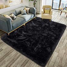 Alfombra de habitación infantil suave y esponjosa, antideslizante, grande, peluda, alfombras de pelo, moderna, para interior, sala de estar, dormitorio de niños