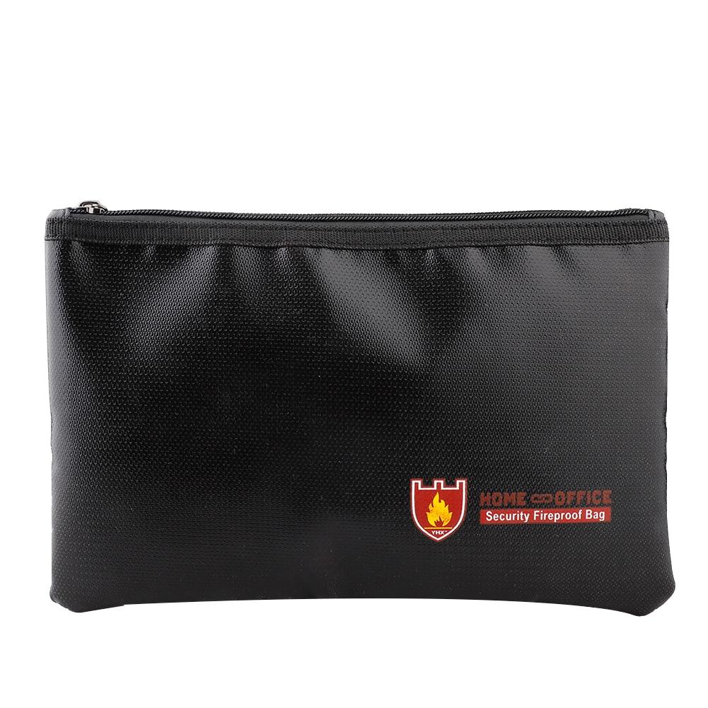 Fireproof Document Bag Organizer Holder Safe Storage Large Capacity Money File Folder With A4 Size 13 Pockets Zipper Closure