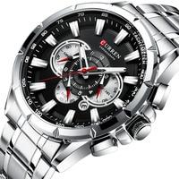 Relógios curren 8363 marca masculina esporte relógios de quartzo homem casual militar à prova dwaterproof água relógio de pulso relogio masculino