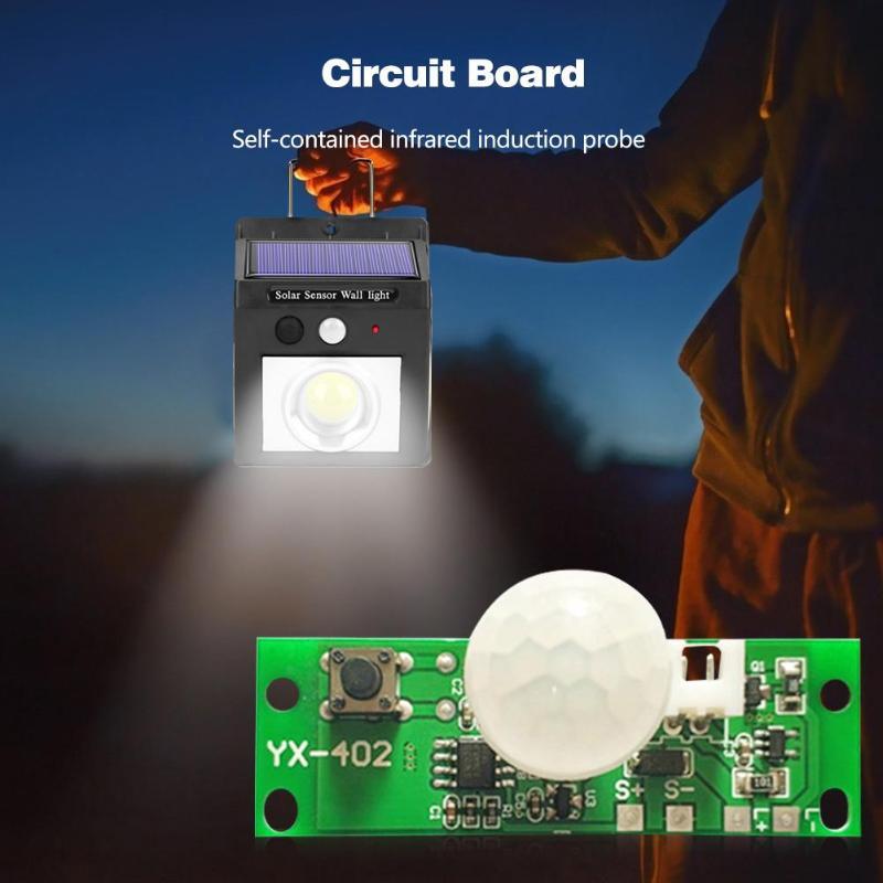 3.7V Automatic Solar Charging Circuit Board Night Light Control Sensor Module Glass Fiber Manufacturing Three Light-on Modes