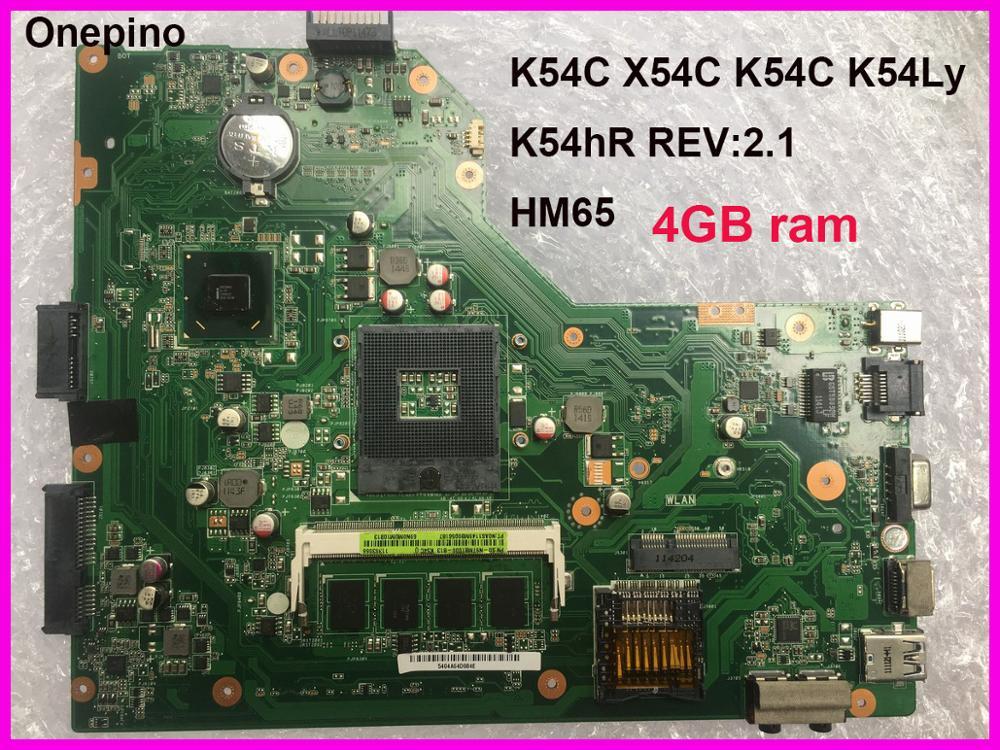 K54C Laptop motherboard for ASUS K54C X54C K54 K54Ly K54hR system board 4GB ram onboard REV 2.1 tested working 1