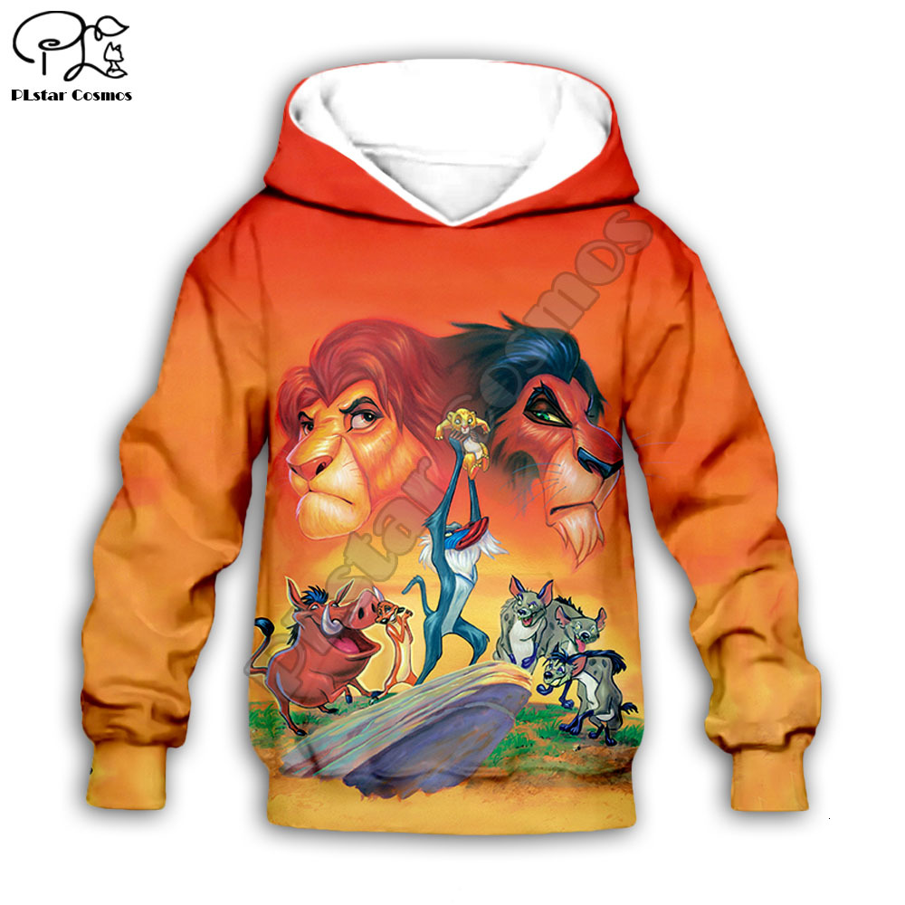 Kids The Lion King 3D Print Zipper Sweatshirts Cartoon Simba Hoodies Shirts Pants Baby Boy Girl Clothing HAKUNA MATATA Mufasa