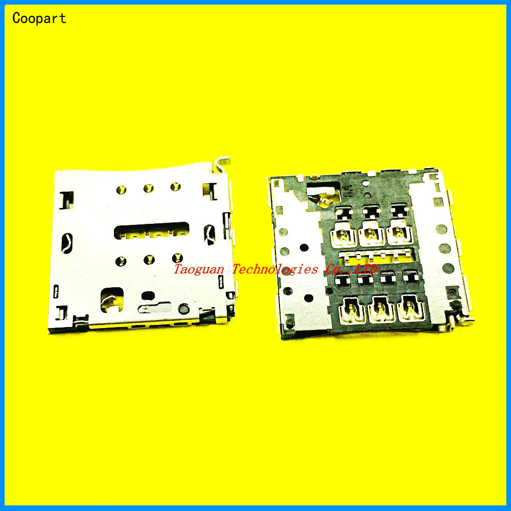 2pcs/lot Coopart New SIM Card Socket Holder Tray Slot Connector Replacement For Huawei G7 P7 C199 P7-L07 L09 L05 L00 Top Quality