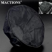 MACTIONS Воздушный фильтр Защитная крышка Черный Водонепроницаемый пылезащитный дышащий воздушный фильтр Маска для Harley Воздушный фильтр Крышка для Harley Sportster 883 1200 XL XR Iron Touring Road King Dyna Softail