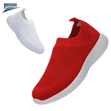 Damyuan 2020 Light Slip on Shoes for Women Breathable Woman Flats Sneakers Women Zapatos De Mujer SIZE 35-43 Summer Woman Shoes vogellia casual flats shoes woman shallow mouth flats platform white shoes slip on summer women canvas zapatos de mujer