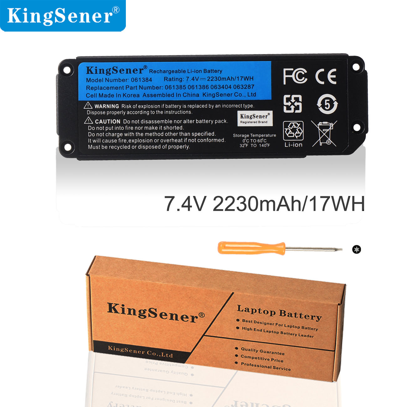 Kingsener 061384 061385 061386 063404 063287 Battery For BOSE SoundLink Mini I Bluetooth Speaker Rechargeable Battery 7.4V 17WH