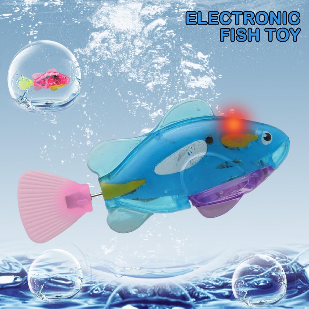 Swimming Electronic Fish Activated Battery Powered Toy For Children Kid Electronic Fish Robot Fish Swimming Fish Tank Decoration