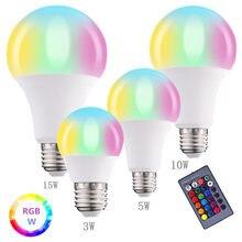 E27 rgbw Белый Умный светильник 3 Вт 5 10 15 светодиодная лампа