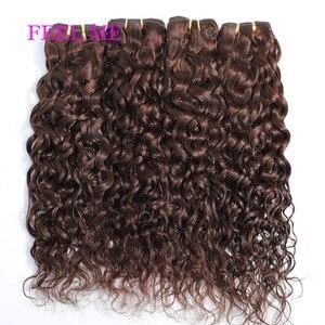 FEEL ME #2 Dark Brown Water Wave Human Hair Weave Bundles Deals 10-24inch Peruvian Water Curly Hair Extensions For Black Women(China)