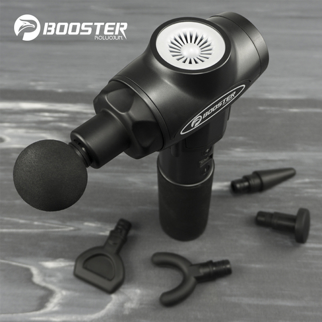 Booster E Massage Gun Deep Tissue Massager Therapy Body Muscle Stimulation Pain Relief for EMS Pain Relaxation Fitness Shaping 4