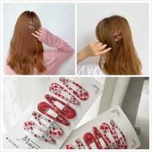 Ins Big Red Festival Pearl Net One-word BB Clip Korean Cute Girl Wind Edge Hairpin Ornaments Hair Accessories Hairclips
